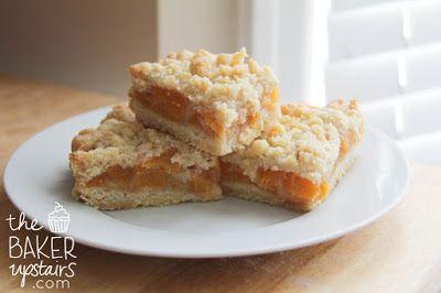 peach crumb bars // the baker upstairs | Sweets | Pinterest
