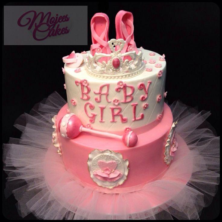 baby ballerina shower cake cake by nilsa pinterest