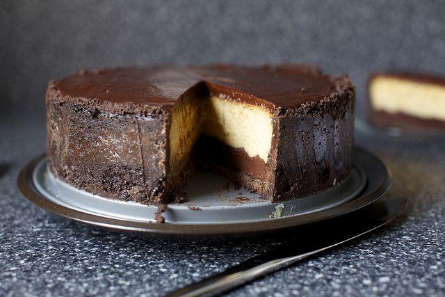chocolate peanut butter cheesecake by smitten kitchen