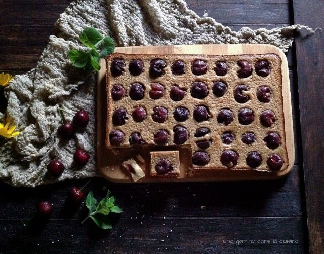 brown butter + cherry basil bars | Dreaming | Pinterest