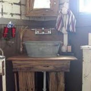 Galvanized Wash Tub Sink Designs Nanette Pinterest