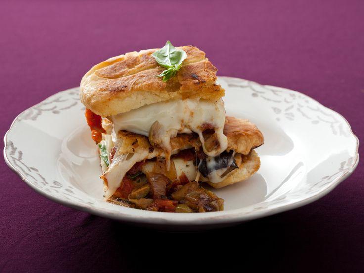 Caponata, Mozzarella And Basil Panini Eggplant caponata is a tangy ...