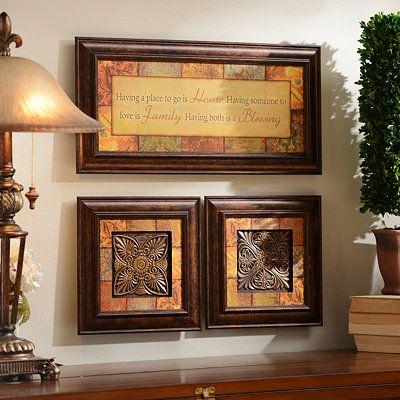 Blessings shadowbox set of 3 home decor 2 kirklands pinterest - Home decorated set ...