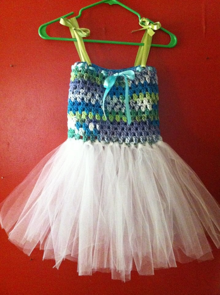 Crochet Baby Tutu Dress Pattern : crochet bodice tutu dress Crocheting for Children ...