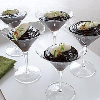 Unique Chocolate Lime Dessert Served in Martini Glasses!
