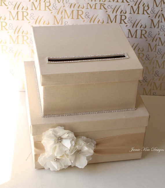 Personalised Wedding Gift Cards : Lovely Wedding Card Box Money Box Gift Card BoxCustom Made to Order ...