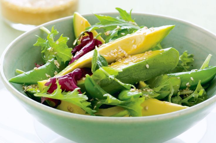 Tart Green Salad With Avocado Dressing Recipes — Dishmaps