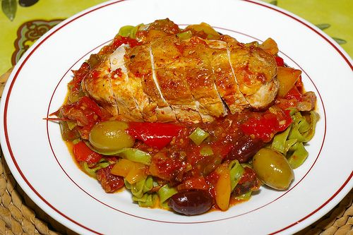 Chicken Breast With Tomatoes And Olives | Delicious foods and spectac ...