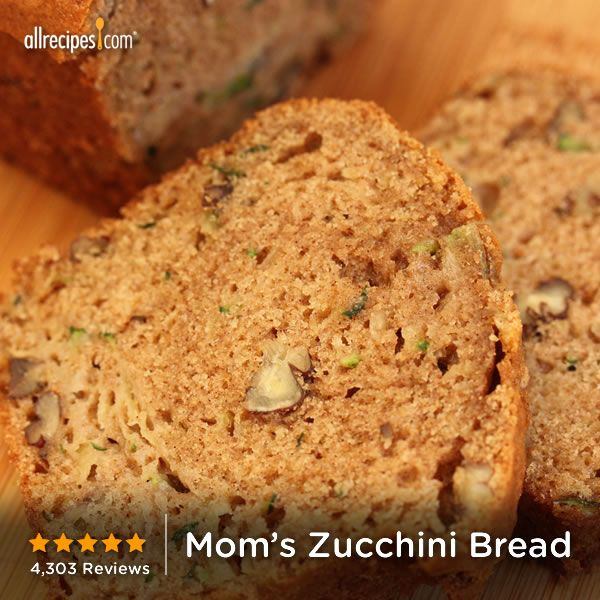 "Mom's Zucchini Bread | ""Perfect recipe! I've been using this one..."