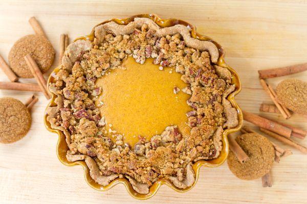 ... Pumpkin Pie http://chocolateandcarrots.com/2010/11/gingersnap-pumpkin