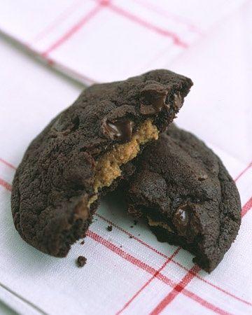 ... chocolate-chocolate-chip dough -- Peanut-Butter Surprises Recipe