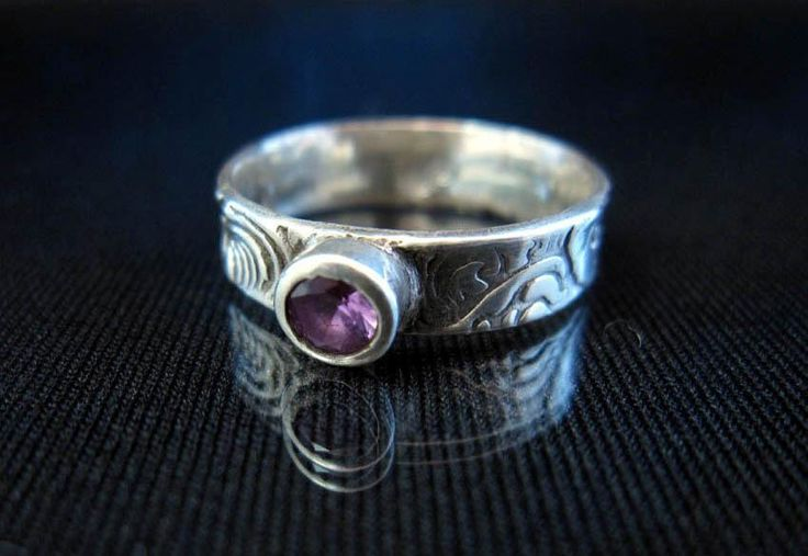 precious metal clay projects | Alexandrite cubic zircon silver ring by Ma... | Jewelry Ideas