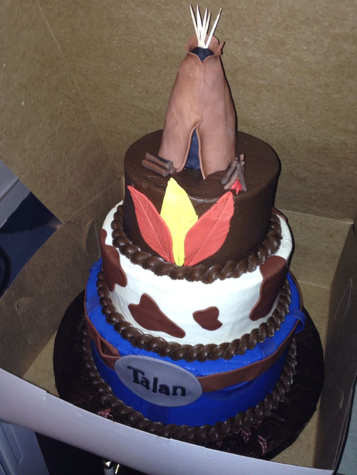 Cowboy And Indian Cake Ideas And Designs