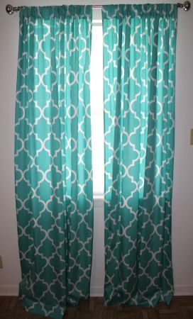 Turquoise curtains perfect now i just need to find these somewhere