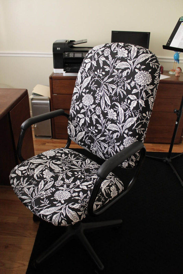 Reupholster That Ugly Office Chair Upholstery Pinterest