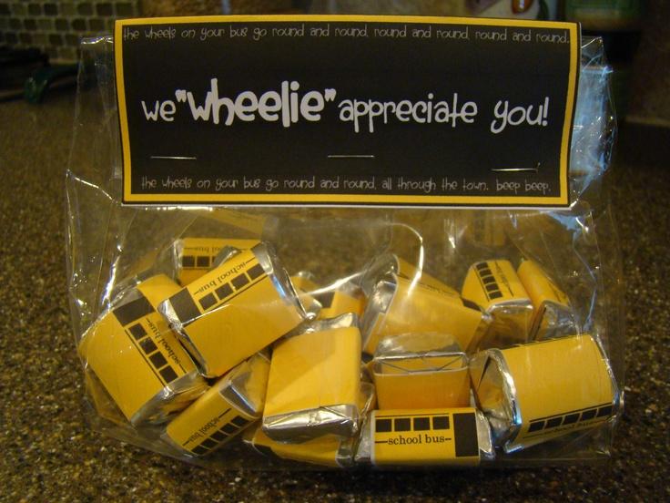 Fun Bus Driver Appreciation Gift! | Gift Ideas | Pinterest