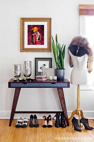 Fashion Toast's Rumi Neely Invites Us Into Her Hip LA Home // Side table and mannequin stand