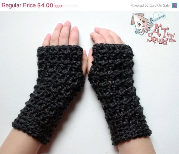 Crochet Fingerless Gloves Easy Pattern : Crochet PATTERN, fingerless glove pattern, permission to ...