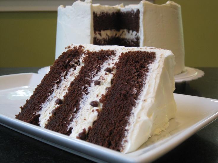 "Hershey's ""Perfectly Chocolate"" chocolate cake with mascarpone-..."
