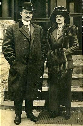 The Snyders who both survived the sinking of the Titanic. Lucky people!