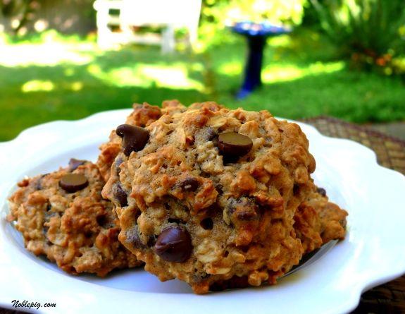 Banana-Oatmeal Chocolate Chip Cookies - kinda, sorta healthy
