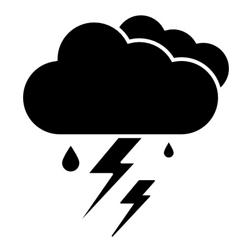 Thunderstorm, IOS 7 interface symbol for weather free icon ...