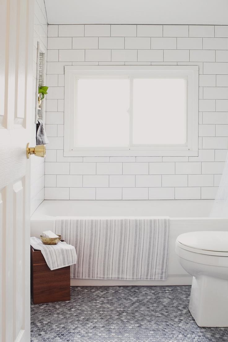 White 4x8 Subway Tiles Bath Remodel Pinterest