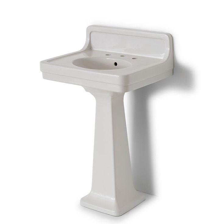 Pedestal Sink Backsplash : Alden Pedestal Sink with Backsplash by Waterworks. $650. in Warm or ...