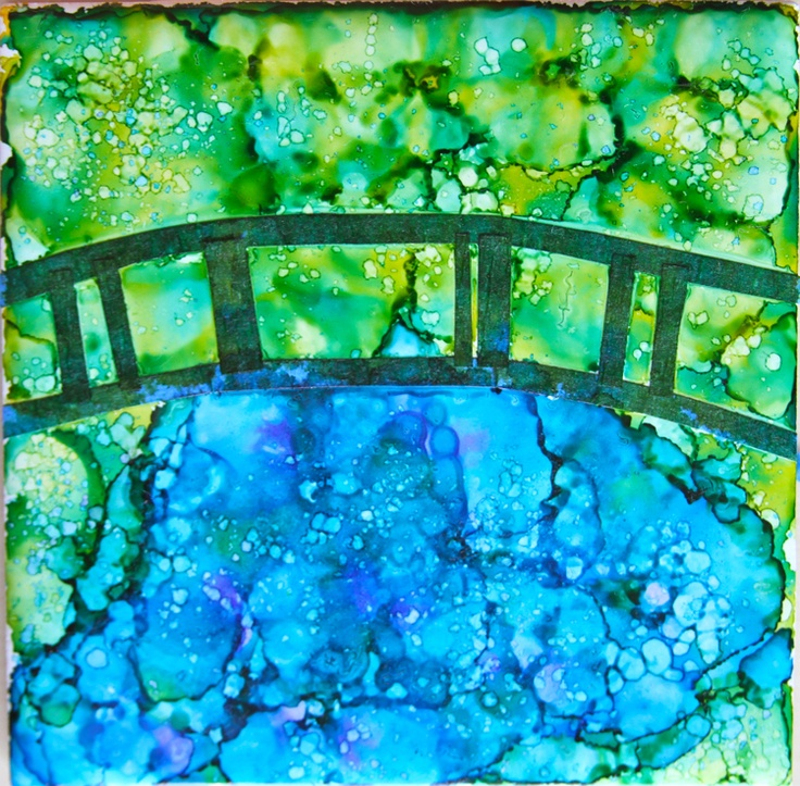 """Holly's Arts and Crafts Corner: Craft Project: Alcohol Ink Tiles Part 3: Mini """"Masters"""" tiles"""