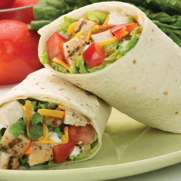 Buffalo Chicken Wrap | Recipes from gourmandize.com | Pinterest