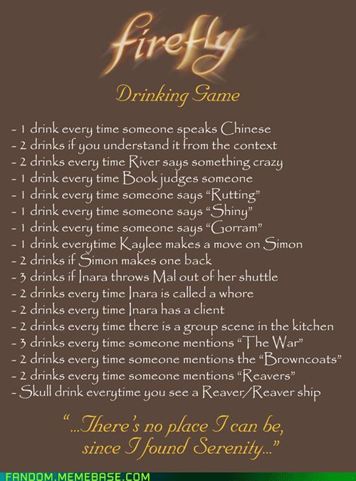 Farscape Drinking Game