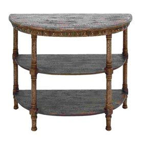 Woodland Imports Console Table Woodland Imports Half-Round Console and Sofa Table