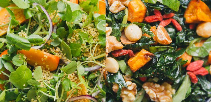 Winter Salads: Roasted Sweet Potato and Massaged Kale Salad   Move ...