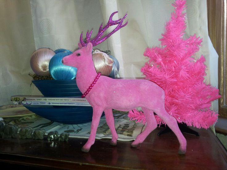 Pink Christmas reindeer | Oh deer... | Pinterest