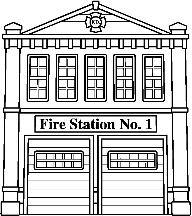 fire station building coloring pages - photo#1