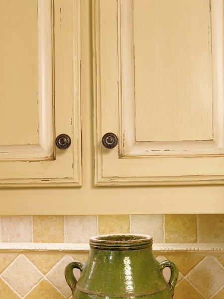 DIY Ish Distressed Kitchen Cabinets