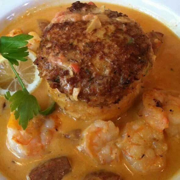 Yummy, crab cake, shrimp & grits | YUMMY GOODNESS!!!!! | Pinterest