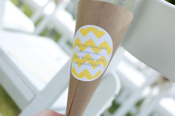 Chevron Wedding Decals