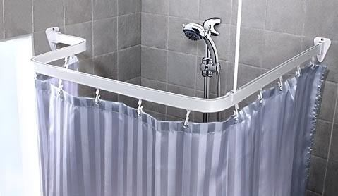 Bendable Shower Curtain Rod Clawfoot Bath Tub Curved L Chrome Finish