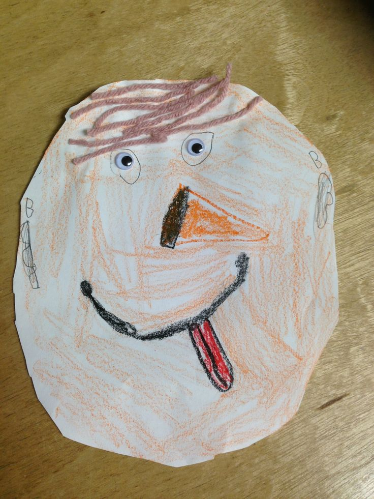 how to draw a self portrait for kindergarten