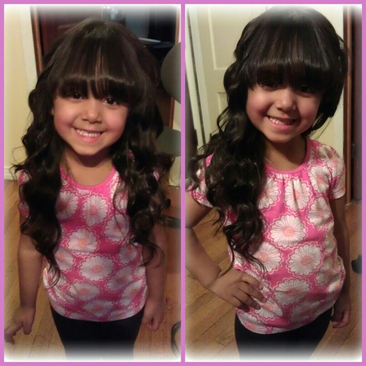 Wand Curls With Bangs Bangs and wand curls :)