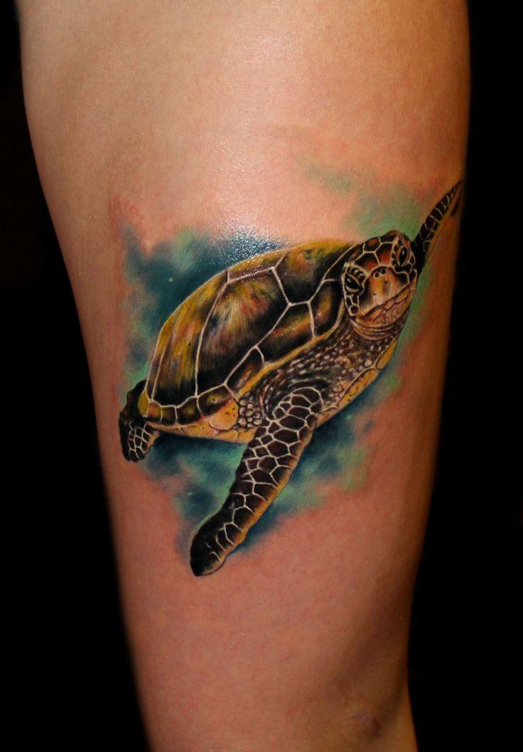 Simple sea turtle tattoos