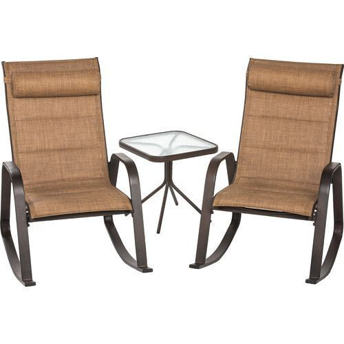 Patio Furniture 3 Piece Rocker & Table Set Yard Garden Porch RV Park