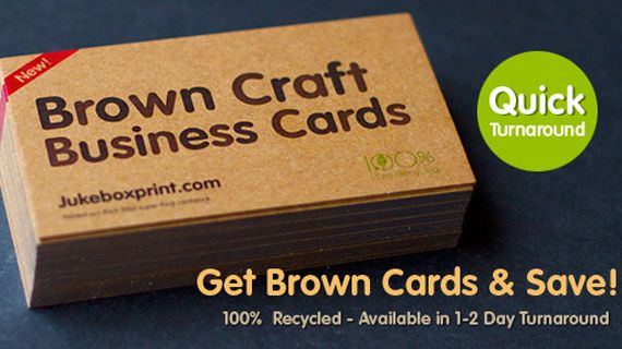brown kraft business cards thick