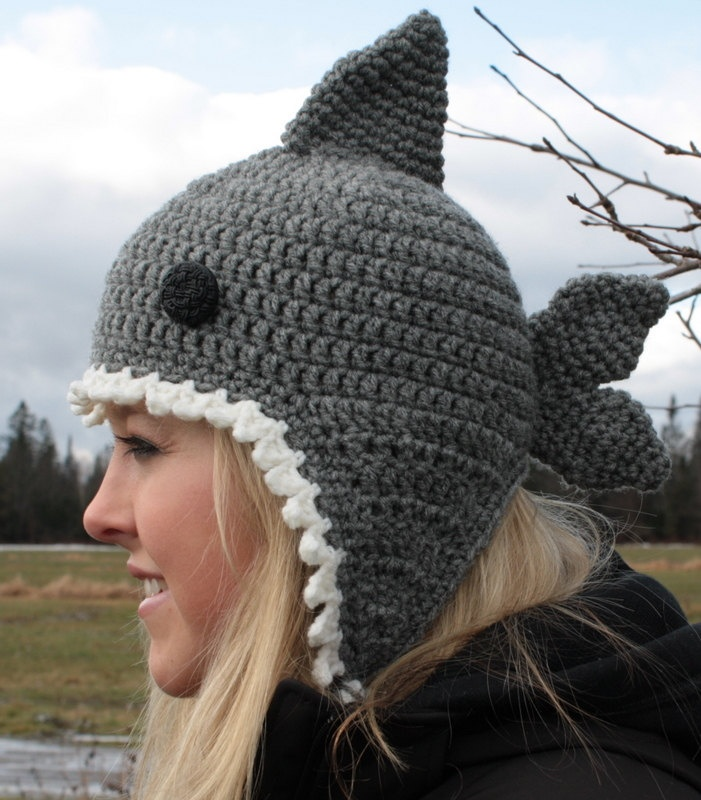 Crochet Pattern For A Shark Hat : Pinterest: Discover and save creative ideas