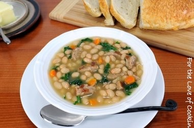 ... White Bean Soup with Kale and Turkey Italian Sausage — Punchfork