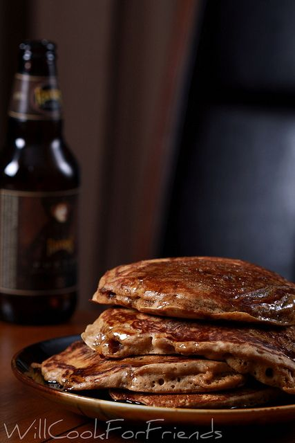 Beer and Bacon Mancakes - pancakes just don't get any manlier than ...
