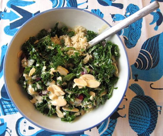 dried cranberries tahini dressing i halved the greens and couscous but ...