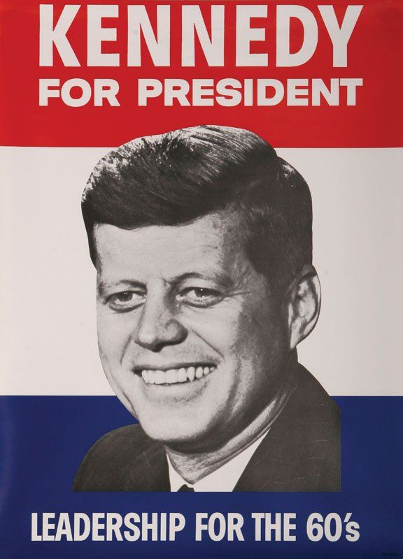 Pretty self-explanatory... Kennedy ran for President in 1960 to help America keep moving forward.