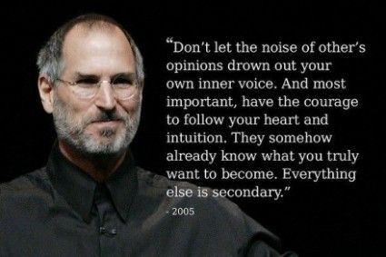 Steve Jobs. One of my favorite quotes